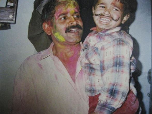 Bhuvan with his father