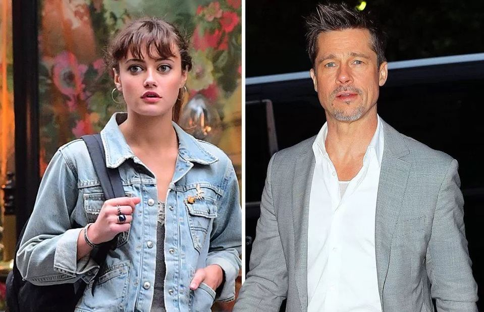 Ella Purnell and Brad Pitt