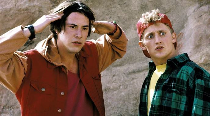 Keanu Reeves and Alex Winter in Bill and Ted
