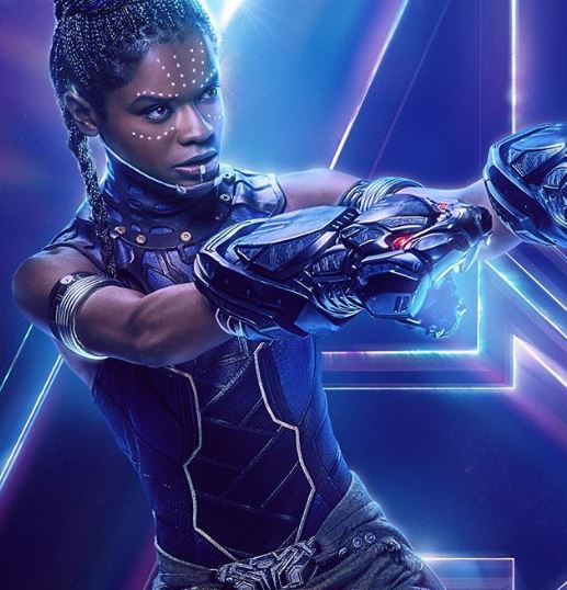 Letitia Wright as Shuri in Avengers Infinity War