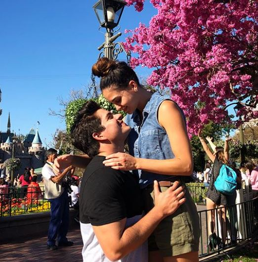 Melissa Barrera with her boyfriend at Disneyland