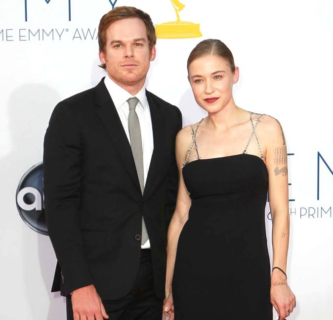 Michael C Hall with his wife. Morgan Macgregor