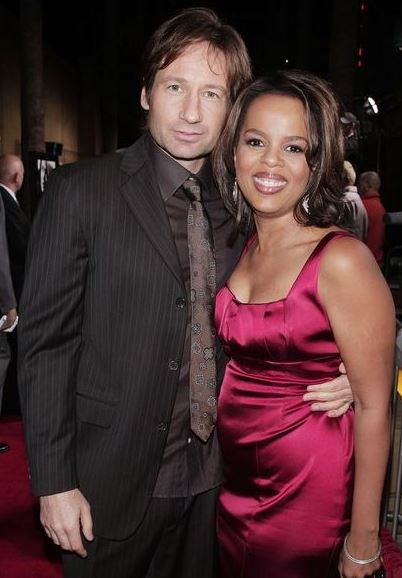 Paula with her friend David Duchovny