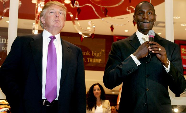 Randal Pinkett and Donald Trump
