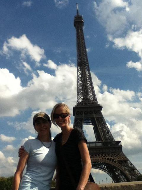 Stephanie with Lisa in Paris