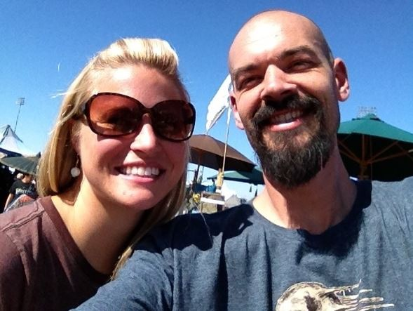 Aaron Goodwin with his ex-wife, Sheena Goodwin