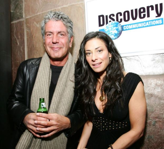 Anthony Bourdain with Asia Argento