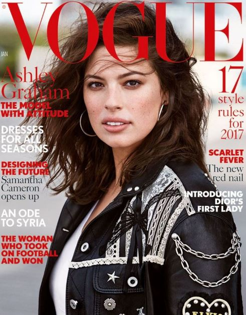 Ashley Graham featured in Vogue