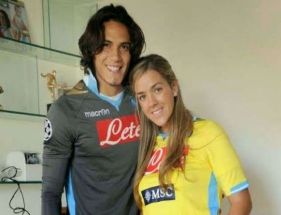 Cavani with his ex-wife, Maria Soledad Cabris Yarrús