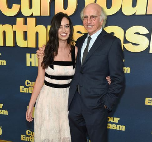 Cazzie with her father, Larry David