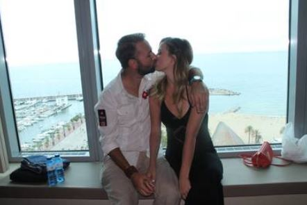 Daniel kissing his girlfriend, Marissa Rachelle Rodney