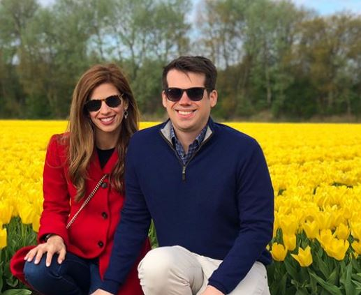 Michelle with her husband Jamie in Netherlands