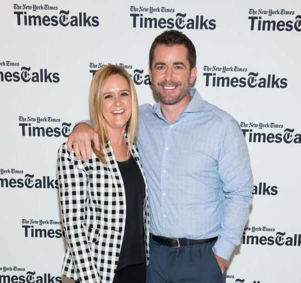 Samantha Bee with her husband, Jason Jones