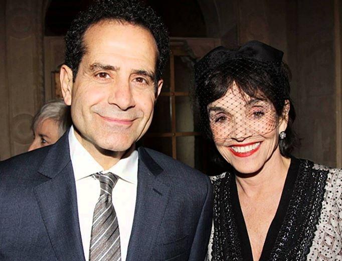 Tony Shalhoub with wife, Brooke Adams