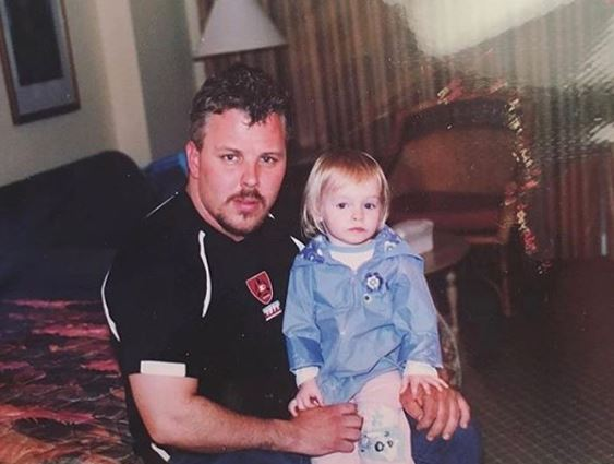 Zoe with her dad