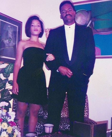 Bianca and her father, Richard Lawson