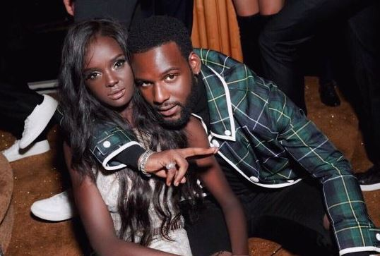 Duckie with her boyfriend, Kofi Siriboe