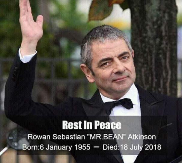 Fake post of Rowan Atkinson death