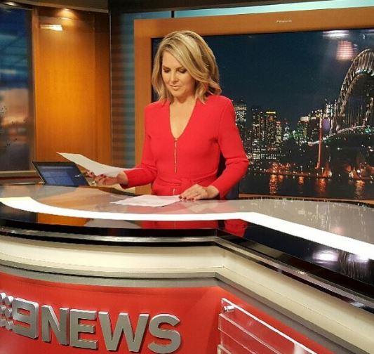 Georgie hosts 9 News Sydney