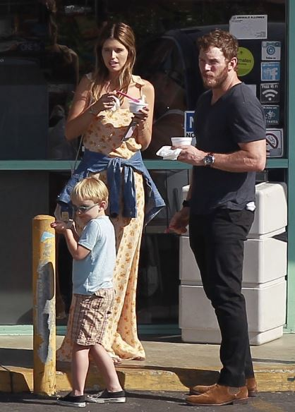 Katherine with Chris and his son, Jack