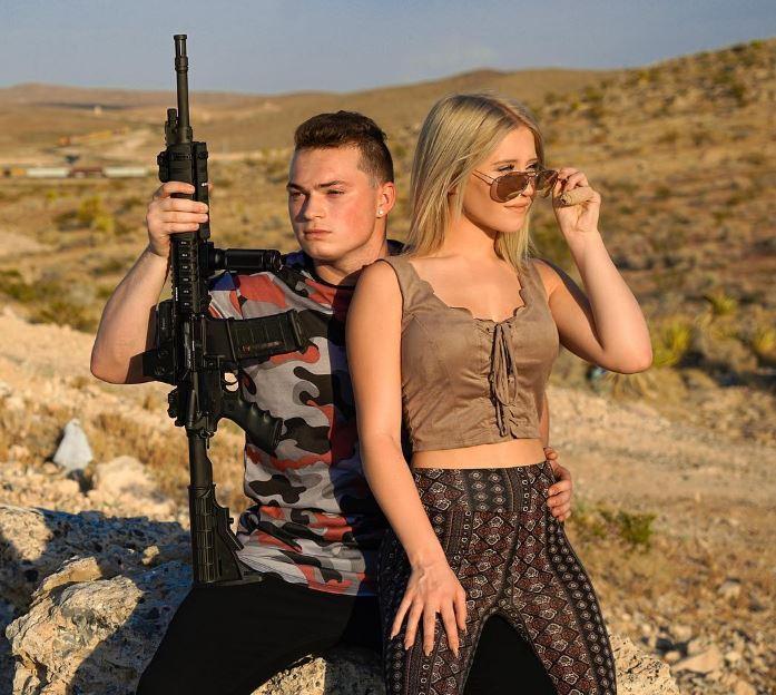 Lizzy with her boyfriend, Lance Stewart