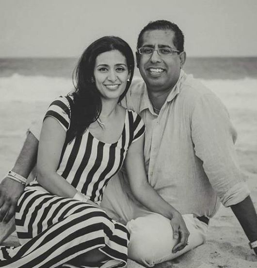 Manjit with her husband, Harvey Shergill