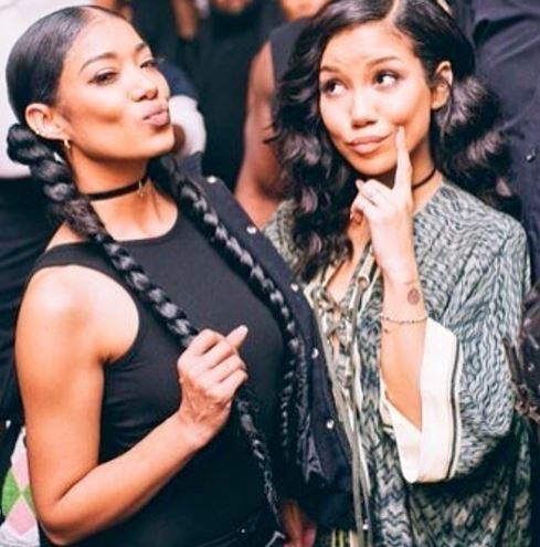 Mila with sister, Jhene Aiko