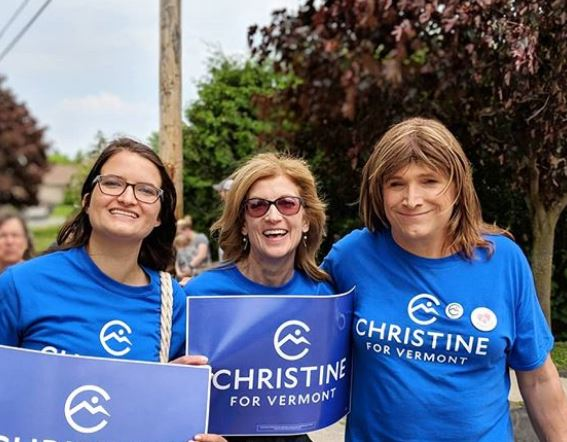 Christine in Middlebury and Vergennes parades
