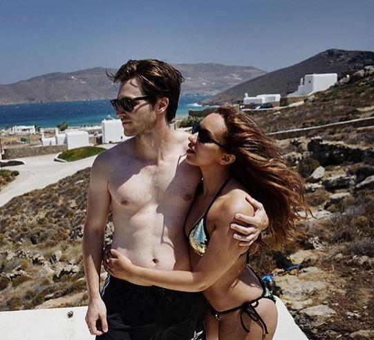 Jade with her boyfriend, Jed Elliot