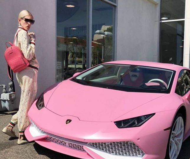 Jeffree owns a pink Lamborghini