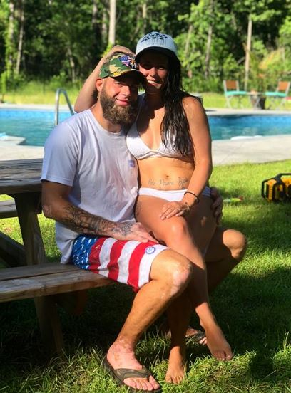 Jenelle with her love partner, David Eason