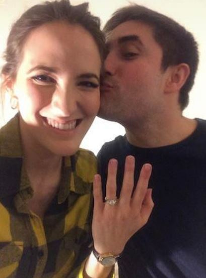 Jonathan with fiancee Besty Woodruff flaunting engagement ring