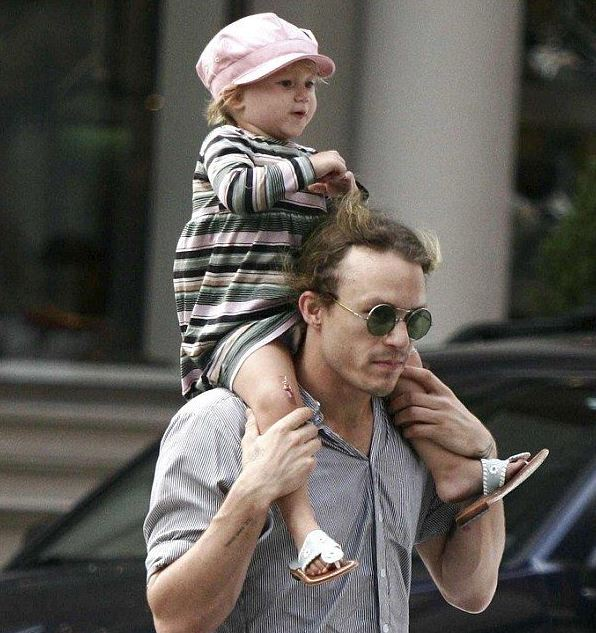 Matilda with her late father, Heath Ledger