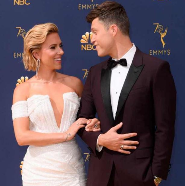 Colin with his girlfriend at Emmys Award 2018