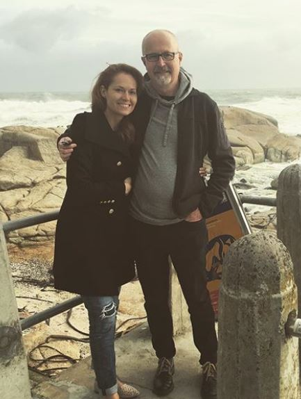 Gillian with her father