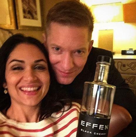 Joseph with his non-celebrity wife