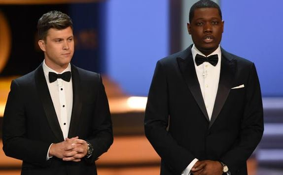 Michael with Colin Jost in Emmys Award