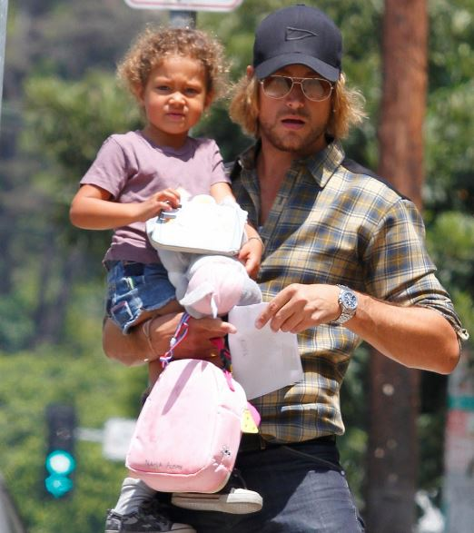 Nahla with her father, Gabriel Aubry