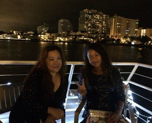 Naomi with her mother, Tamaki Osaka