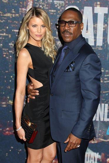 Paige with her boyfriend, Eddie Murphy