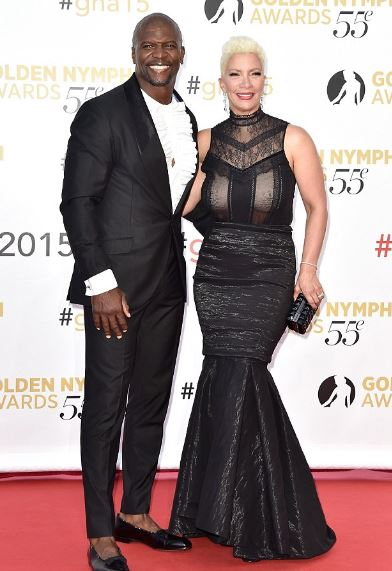 Rebecca with her husband, Terry Crews