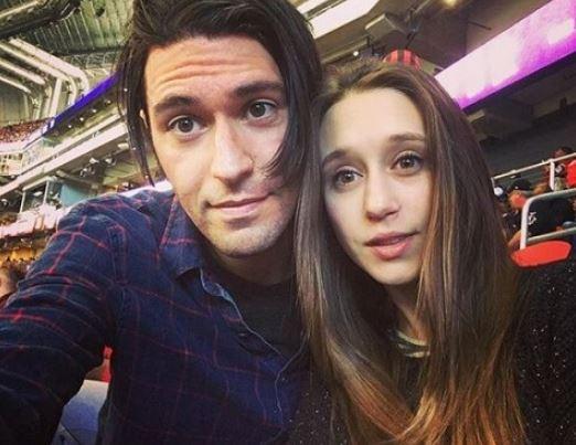 Taissa with her boyfriend, Hadley Klein