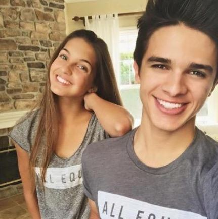 Brent with his sister, Lexi Rivera