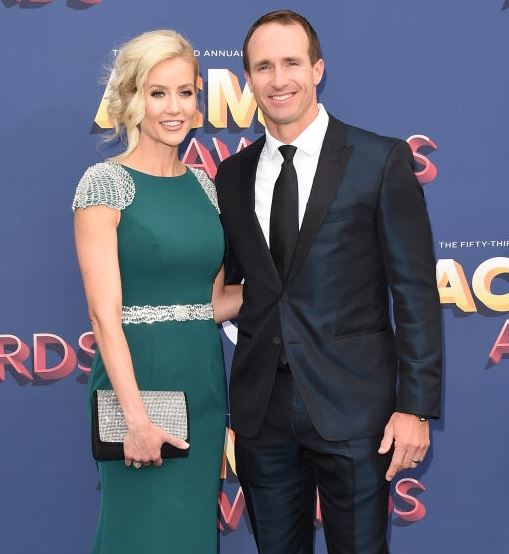 Brittany with her boyfriend-turned-husband, Drew Brees