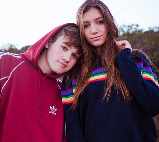 Charles with his girlfriend, Madison Lewis