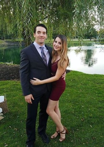 Drew with his girlfriend, April Beckner