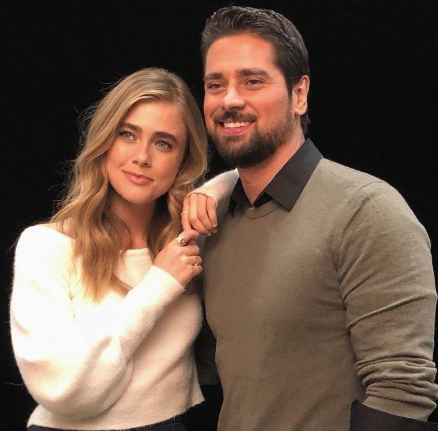 JR Ramirez with Melissa Roxburgh