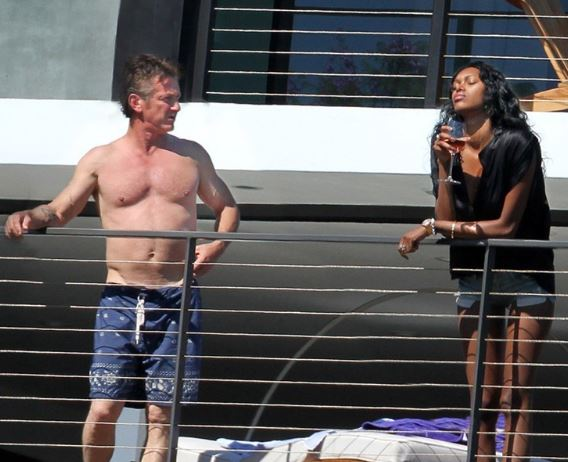 Jessica White and Sean Penn