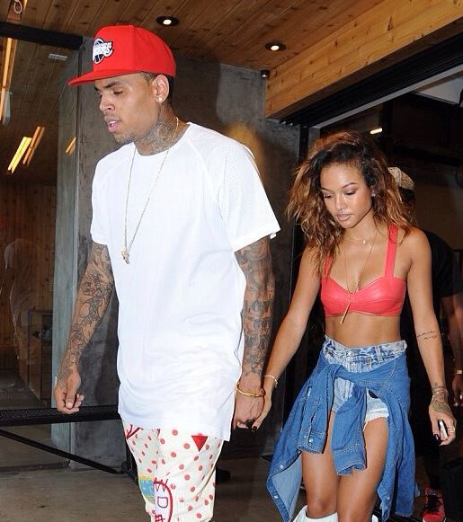 Karrueche Tran with Chris Brown