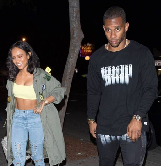 Karrueche Tran with Victor Cruz